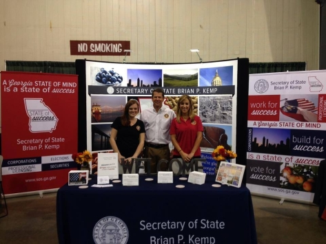 My photo was on display at the Georgia National Fair in Perry (on the right side).